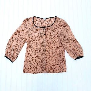 Anthropologie Odille Casino Nights Button Down Top